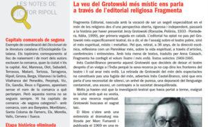 La veu del Grotowski més místic ens parla a través de l'editorial religiosa Fragmenta